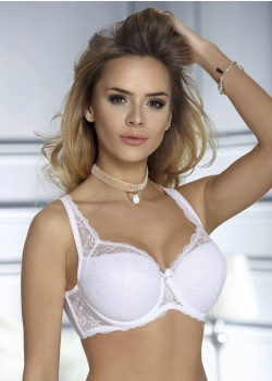 Unikat Biustonosz Angelika Full Cup Biały