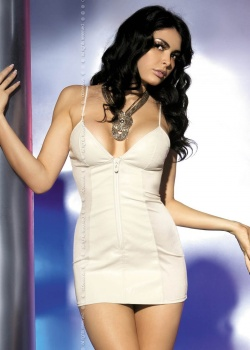 Obsessive - Sukienka Ivory + Stringi Białe