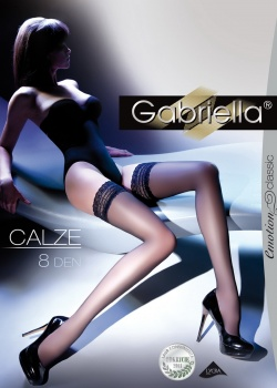 Gabriella - Pończochy samonośne Calze den 8