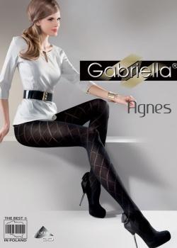 Gabriella - Rajstopy grube Agnes Nero