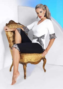 Irall - Piżama Zoe Czarno-biała