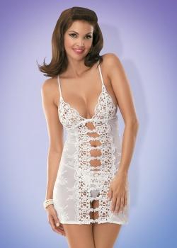 Obsessive - Koszulka Bride + Stringi Białe