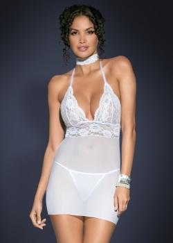 Obsessive - Koszulka Magnolie + Stringi Białe