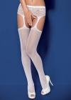 Obsessive - Pończochy Garter S 307 Białe