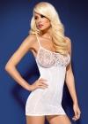 Obsessive - Sukienka D 204 Biała
