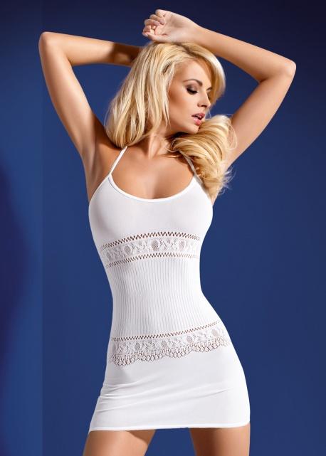 Obsessive - Sukienka D 307 Biała
