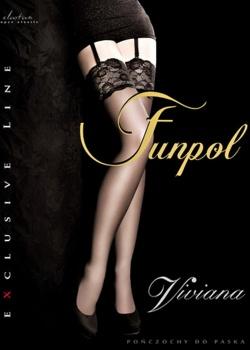 Funpol - Pończochy do paska Viviana