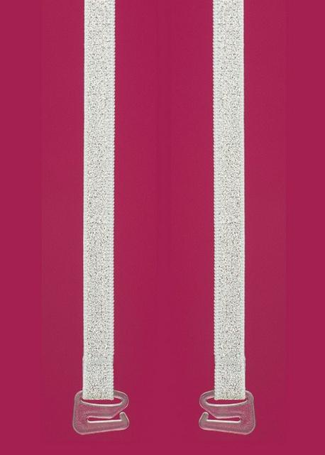 Julimex - Ramiączka RB 376 Srebrne wzór