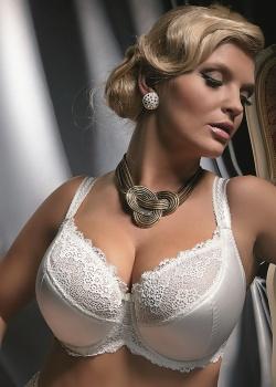 Kris - Biustonosz Diamond Semi-soft Mleko