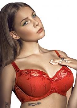 Dalia - Biustonosz Whitney Semi-soft K-24 Czerwony