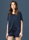 Vanilla   T shirt Oversize LW003 Granat