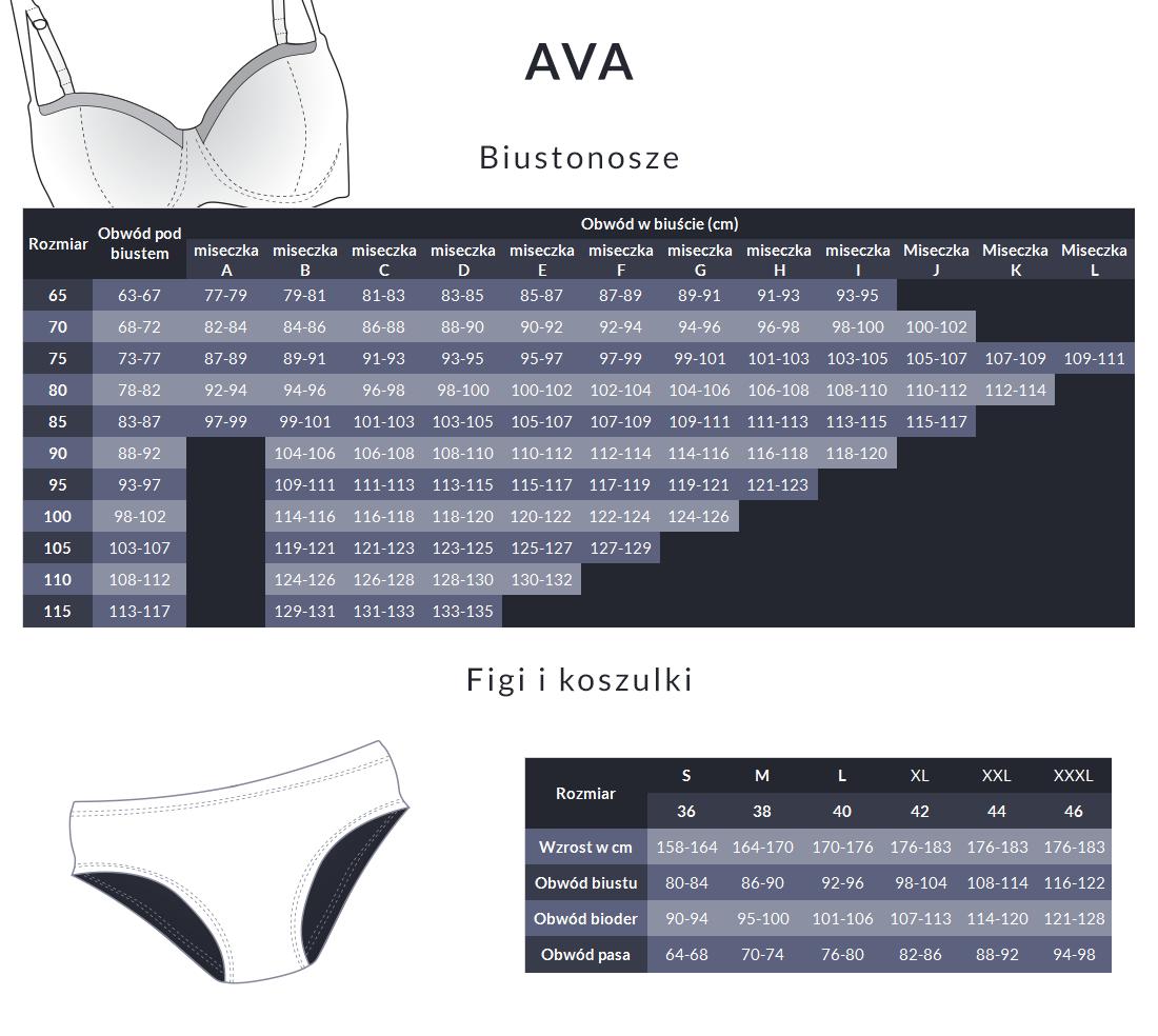 Tabela rozmiarów AVA
